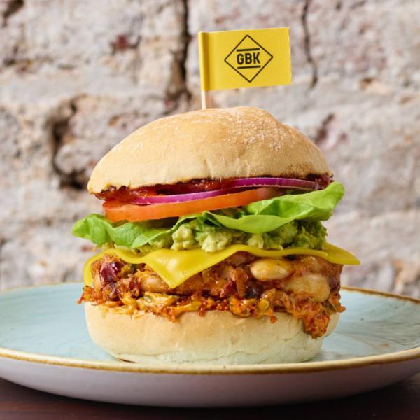 Vegan burger at Gourmet Burger Kitchen
